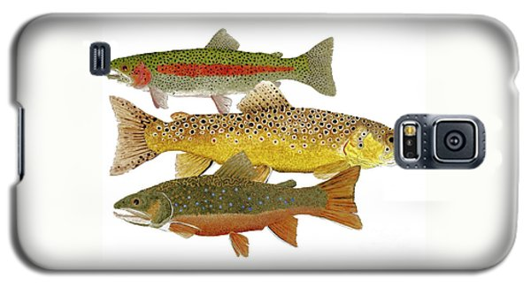 Common Trout  Rainbow Brown And Brook Galaxy S5 Case by Thom Glace