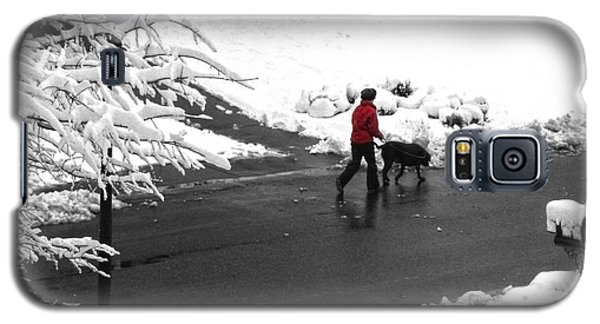 Companions Walking On Christmas Morning Galaxy S5 Case by Sandi OReilly