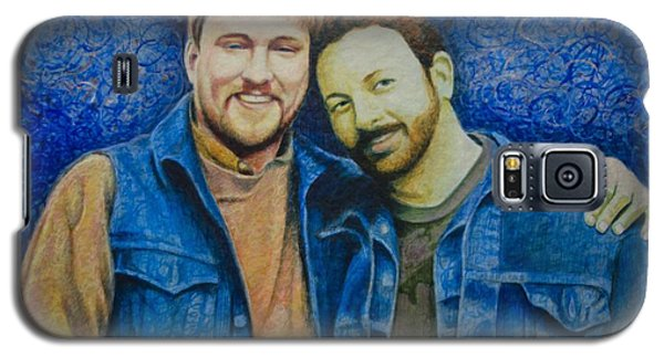 Galaxy S5 Case featuring the painting Complete_portrait Of Craig And Ron by Ron Richard Baviello