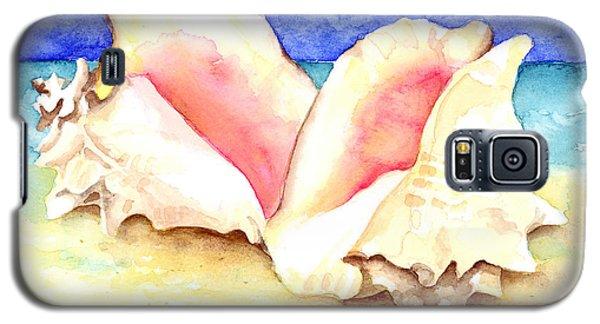 Conch Shells On Beach Galaxy S5 Case