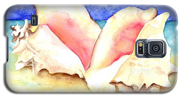 Conch Shells On Beach Galaxy S5 Case