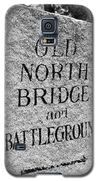 Concord Ma Old North Bridge Marker Black And White Galaxy S5 Case