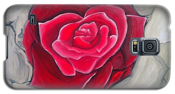 Galaxy S5 Case featuring the painting Concrete Rose by Marisela Mungia