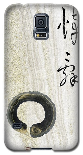 Galaxy S5 Case featuring the mixed media Condolences Tooji With Enso Zencircle by Peter v Quenter