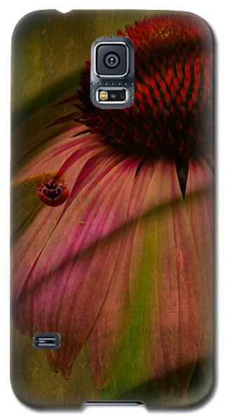 Cone Flower And The Ladybug Galaxy S5 Case by Lesa Fine