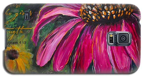 Coneflower Galaxy S5 Case by Lisa Fiedler Jaworski