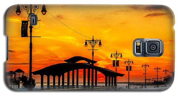 Coney Island Winter Sunset Galaxy S5 Case by Chris Lord