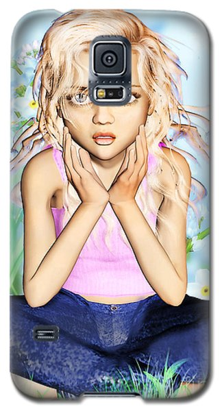 Confused Little Girl Galaxy S5 Case