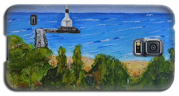Galaxy S5 Case featuring the painting Summer, Conneaut Ohio Lighthouse by Melvin Turner