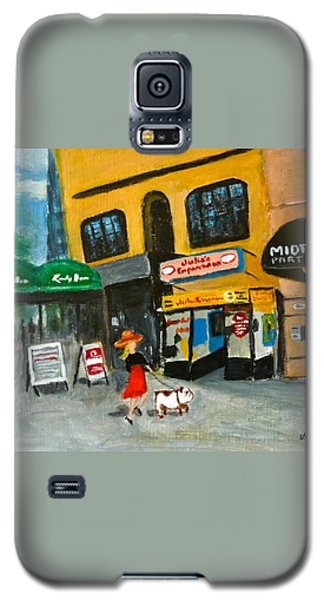 Galaxy S5 Case featuring the painting Connecticut Avenue Dc by Victoria Lakes