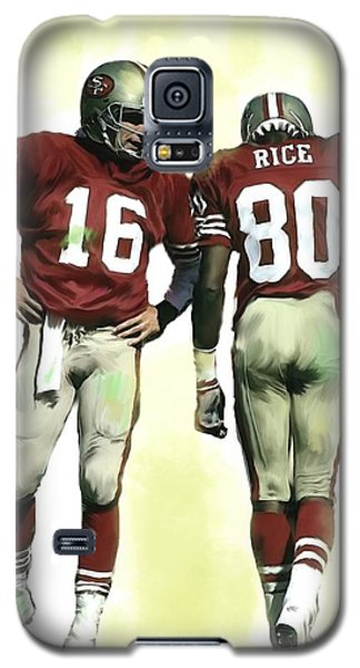 The Connection II Joe Montana And Jerry Rice  Galaxy S5 Case