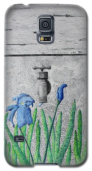 Galaxy S5 Case featuring the painting Consequence by A  Robert Malcom