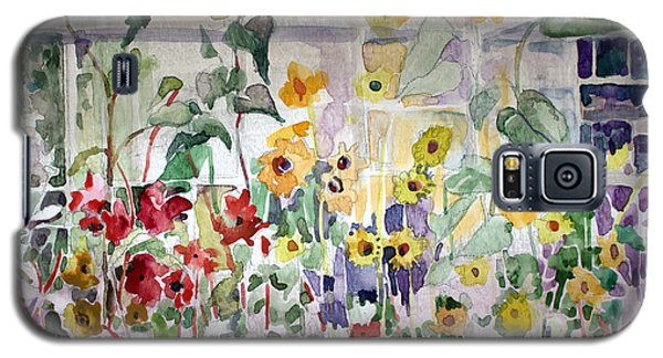 Conservatory Sunflowers Galaxy S5 Case by Mindy Newman