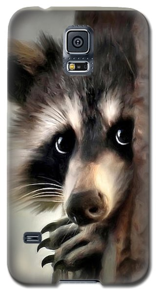 Galaxy S5 Case featuring the mixed media Conspicuous Bandit by Christina Rollo
