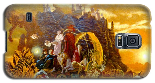 Galaxy S5 Case featuring the painting Constructors Of Time by Henryk Gorecki