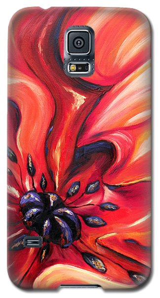 Galaxy S5 Case featuring the painting Consuming Fire by Meaghan Troup