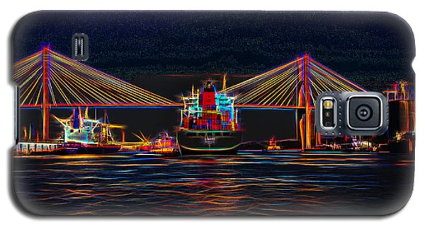 Container Ship Arriving At Savannah Galaxy S5 Case