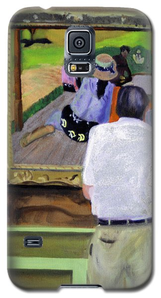 Galaxy S5 Case featuring the painting Contemplating Gauguin by Michael Daniels