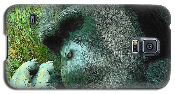 Galaxy S5 Case featuring the photograph Contemplative Chimp by Rodney Lee Williams