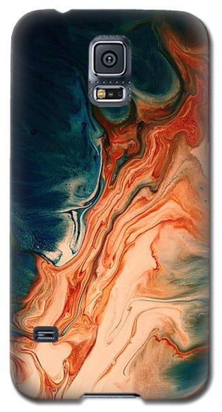 Contemporary Abstract Art By Kredart - Radiating Sun Streak  Galaxy S5 Case