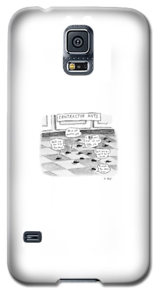 Ant Galaxy S5 Case - Contractor Ants Are Leaving A House. Ants' Speech by Roz Chast