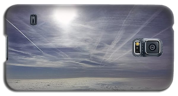 Contrail Panorama Galaxy S5 Case by Greg Reed