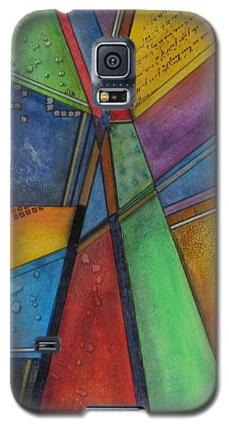 Galaxy S5 Case featuring the painting Convergence by Nicole Nadeau