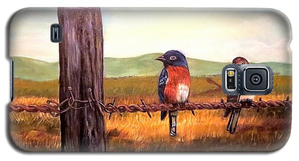 Conversation With A Fencepost Galaxy S5 Case by Kimberlee Baxter