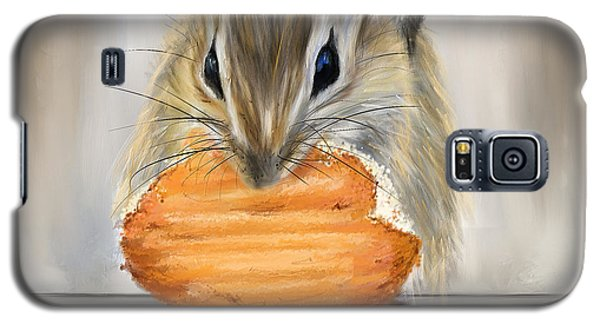 Cookie Time- Squirrel Eating A Cookie Galaxy S5 Case by Lourry Legarde