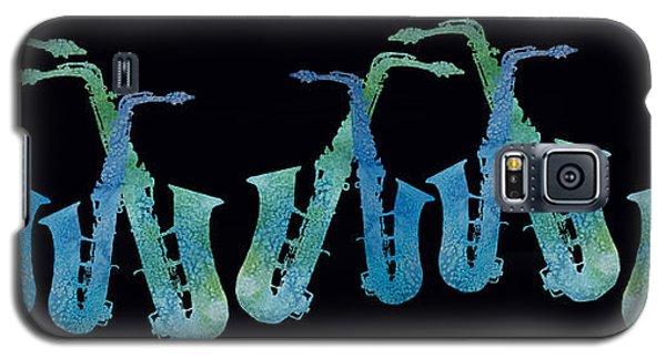 Cool Blue Saxophone String Galaxy S5 Case