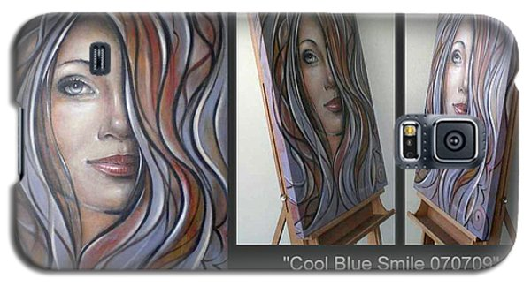 Cool Blue Smile 070709 Comp Galaxy S5 Case