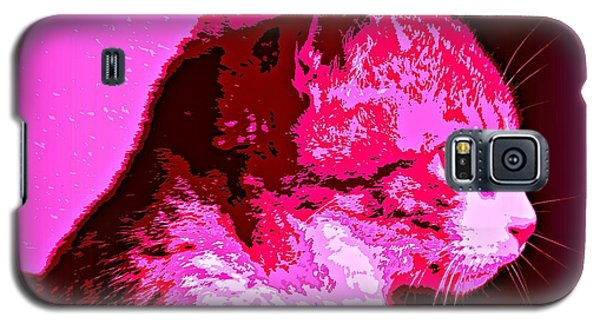 Galaxy S5 Case featuring the photograph Cool Cat by Clare Bevan