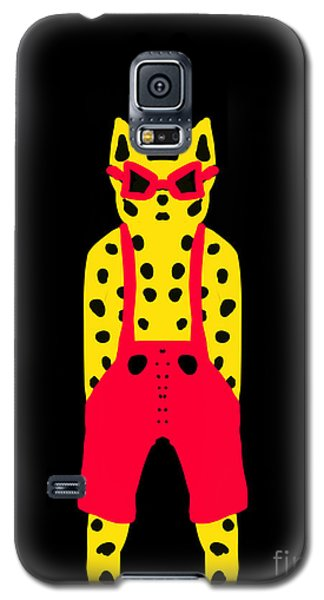 Cool For Cats In Red Dungarees Galaxy S5 Case