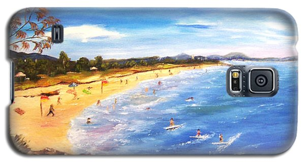 Galaxy S5 Case featuring the painting Coolum Beach by Renate Voigt