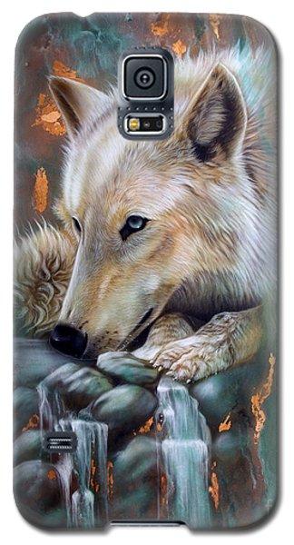 Copper Arctic Wolf Galaxy S5 Case