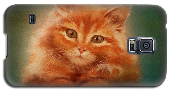 Copper-colored Kitty Galaxy S5 Case