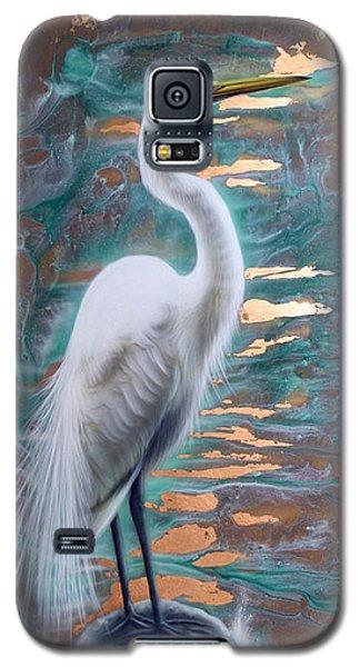 Copper Egret Galaxy S5 Case