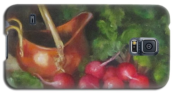 Copper Pot And Radishes Still Life Painting Galaxy S5 Case by Cheri Wollenberg