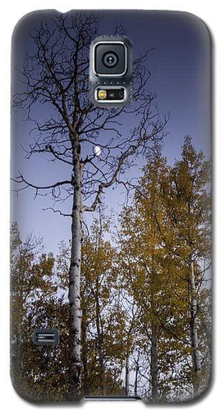 Copper Ridge Moon At Sunset Galaxy S5 Case by Daniel Hebard