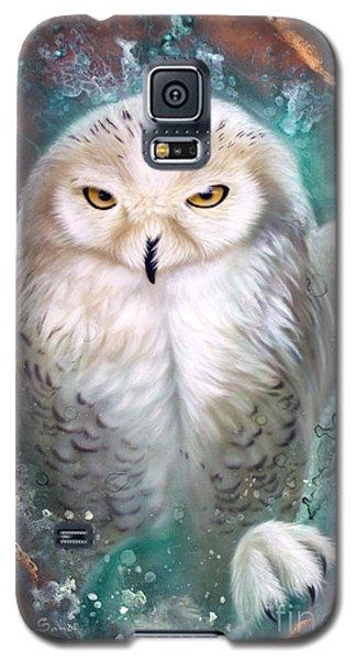 Copper Snowy Owl Galaxy S5 Case