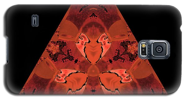 Copper Triangle Abstract Galaxy S5 Case