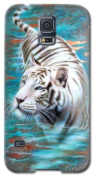 Copper White Tiger Galaxy S5 Case