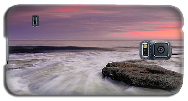 Coquina Rocks Washed By Ocean Waves At Colorful Sunset Galaxy S5 Case