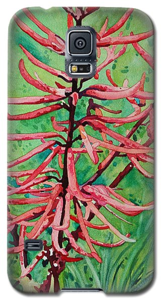 Coral Bean Flowers Galaxy S5 Case