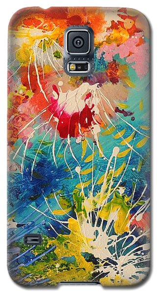 Galaxy S5 Case featuring the painting Coral Madness by Lyn Olsen