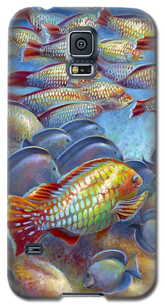 Galaxy S5 Case featuring the painting Coral Reef Life I by Nancy Tilles