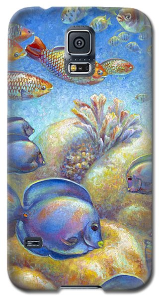 Galaxy S5 Case featuring the painting Coral Reef Life II by Nancy Tilles