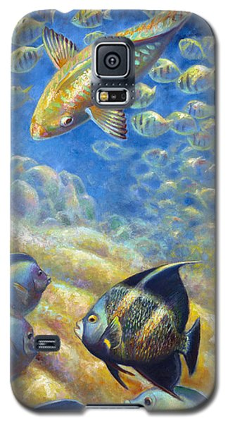 Galaxy S5 Case featuring the painting Coral Reef Life IIi by Nancy Tilles
