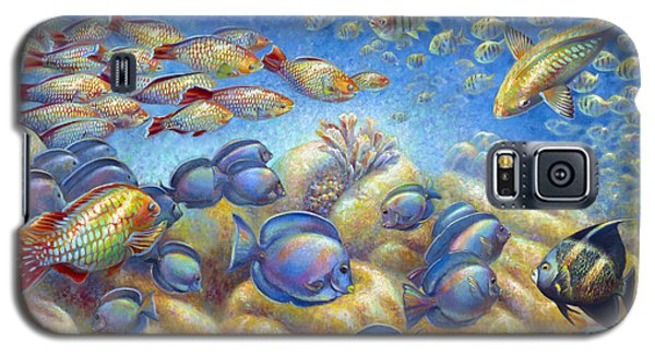Galaxy S5 Case featuring the painting Coral Reef Life by Nancy Tilles