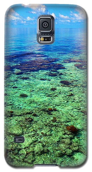 Coral Reef Near The Island At Peaceful Day. Maldives Galaxy S5 Case by Jenny Rainbow